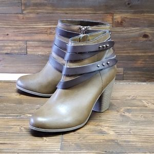Material Girl Ankle Heel Boots Size 7.5